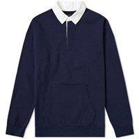 Beams Plus Rugby Sweat Blue