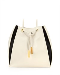 Stella Mccartney Bicolor Faux Leather Rucksack Black White