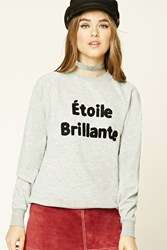 Forever 21 Patch Graphic Sweatshirt Grey Black