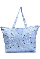 Ganni Printed Shell Tote Light Blue