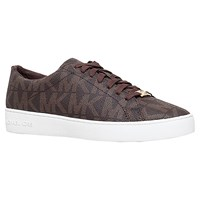 Michael Michael Kors Keaton Flat Lace Up Trainers Brown