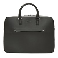 Paul Smith Grey Leather Slim Folio Briefcase