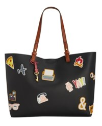 Fossil Rachel Sticker Patch Tote Multi