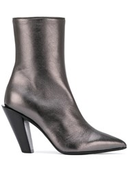 A.F.Vandevorst Mid Calf Pointed Boots Grey
