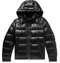Valentino Rockstud Quilted Shell Hooded Down Jacket Black