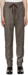 Cmmn Swdn Grey Faux Suede Stray Trousers
