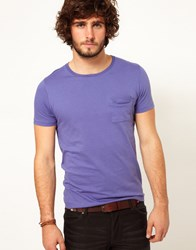 Asos Crew Neck T Shirt With Pocket Purple