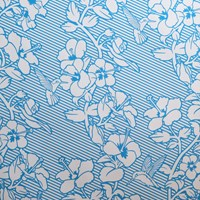 Flavor Paper Hibiscus Wallpaper Black Blue Green