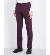 Paul Smith Checked Slim Fit Wool Blue Red