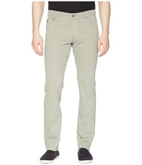 Ag Adriano Goldschmied Graduate Tailored Straight Sueded Stretch Sateen Dry Cypress Casual Pants Gray