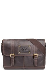 Men's Jack Mason Brand 'Gridiron Arkansas Razorbacks' Leather Messenger Bag