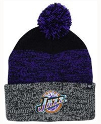 47 Brand '47 Utah Jazz Black Static Pom Knit Hat Black Purple Gray