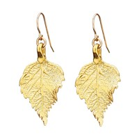 Chupi Tiny The Sweetest Thing Raspberry Leaf Earrings Gold