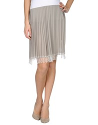 Gold Case Skirts Knee Length Skirts Women Dove Grey