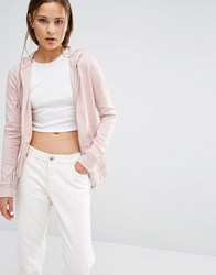 New Look Zip Through Hoodie Nude Pink