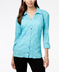 Jm Collection Animal Print Burnout Blouse Only At Macy's Turquise Pool