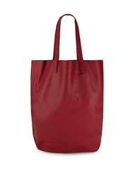 Liebeskind Classic Leather Open Tote Red