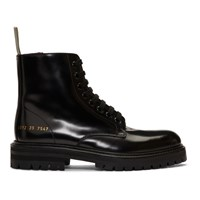 Common Projects Woman By Black Standard Combat Boots