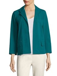 Lafayette 148 New York Benny Open Front Jacket Tropic Teal