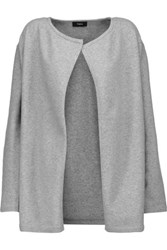 Theory Nyma Merino Wool Blend Cardigan Gray