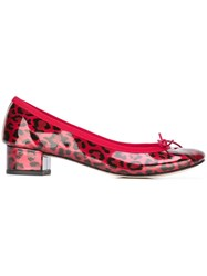 Repetto Leopard Print Ballerinas Pink And Purple