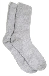 The White Company Cashmere Bed Socks Silver Grey Heather