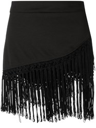 Amir Slama Fringed Skirt Black