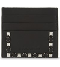 Dsquared2 Studded Leather Card Holder Nero