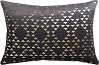 Cb2 Fade To Grey 18''X12'' Pillow With Feather Down Insert