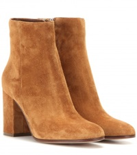 Gianvito Rossi Suede Ankle Boots Brown