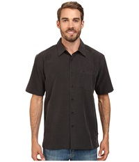 Quiksilver Waterman Centinela 4 Traditional Polynosic Woven Top Black Men's Clothing