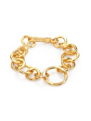 Stephanie Kantis Coronation Large Chain Link Bracelet Gold
