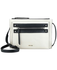 Nine West Get Poppin Crossbody White Black