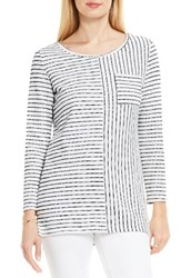 Vince Camuto Women's Two By Nautical Stripe Knit Top Ultra White