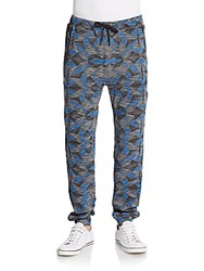 Threads 4 Thought Geometric Print French Terry Jogger Pants Kaleidescope
