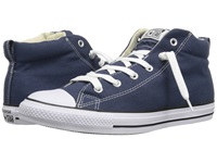 Converse Chuck Taylor All Star Street Core Canvas Mid Navy Natural White Lace Up Casual Shoes