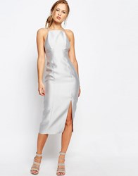 Keepsake Billboard Pencil Dress Pale Grey