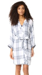 Rails Long Sleeve Robe White Indigo