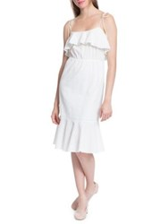 Plenty By Tracy Reese Flounced Cotton Cami Slip Dress White