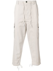 Ami Alexandre Mattiussi Patchwork Oversized Carrot Fit Trousers Neutrals