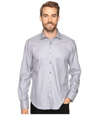 Bugatchi Lando Long Sleeve Woven Shirt Graphite Men's Long Sleeve Button Up Gray