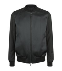 Boss T Camby Satin Bomber Jacket Male Black
