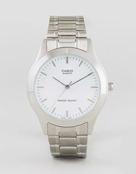 Casio Silver Stainless Steel Strap Watch Mtp1128a 7A Silver