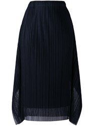 Issey Miyake Pleats Please By Pleated Skirt Women Polyester 4 Black