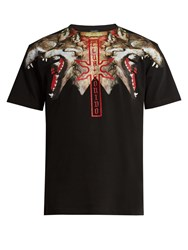 Marcelo Burlon Victor Cotton Jersey T Shirt Black Multi