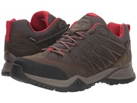 The North Face Hedgehog Hike Ii Gtx R Bone Brown Rage Red Shoes