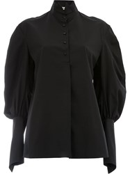 Aganovich Puff Sleeve Shirt Black