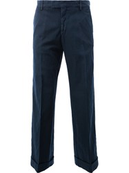 Dries Van Noten Cropped Chino Trousers Blue