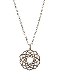 Bavna Geometric Champagne Diamond Pendant Necklace