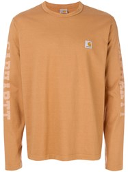 Junya Watanabe Man Man X Carhartt Logo Sleeve Top Yellow And Orange